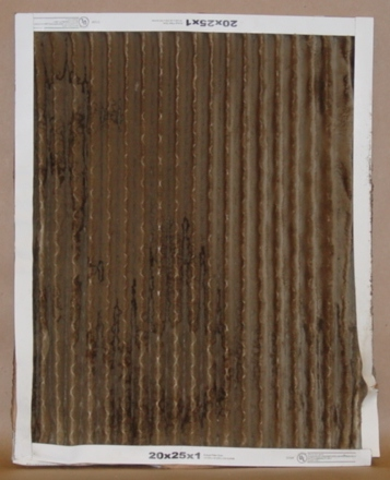 1 inch dirty pleated furnace filter